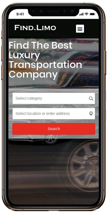 website design for limousine companies